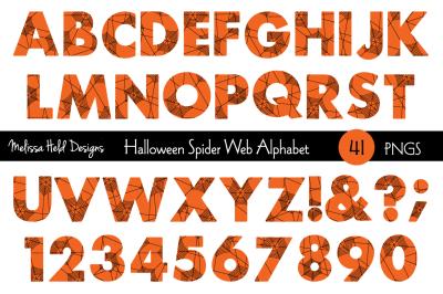 Halloween Spider Web Alphabet