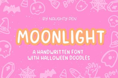 Moonlight Halloween Doodle Font