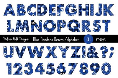 Blue Bandana Pattern Alphabet