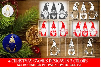 Christmas Gnomes SVG Cut Files. Christmas SVG Bundle.