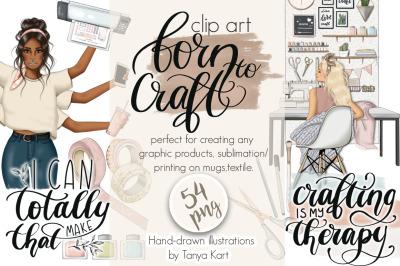 Born To Craft Clip Art
