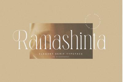 Ramashinta // Stylish Modern Serif
