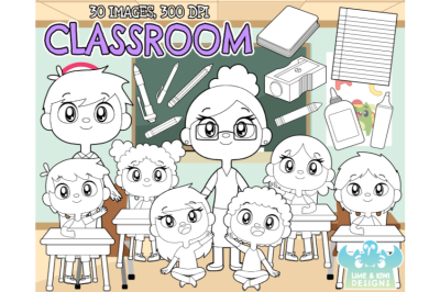 Classroom Digital Stamps - Lime and Kiwi Designs
