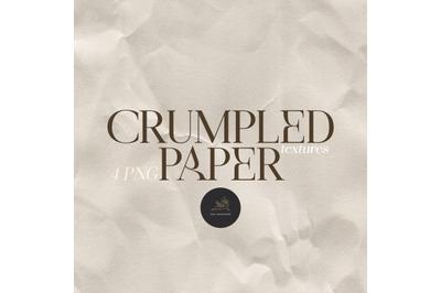 Digital Paper, Crumpled Paper, Folded Paper