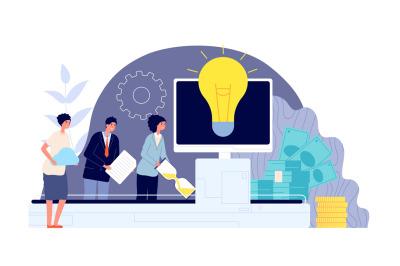 Brainstorm and teamwork. Business collaboration, engagement team creat