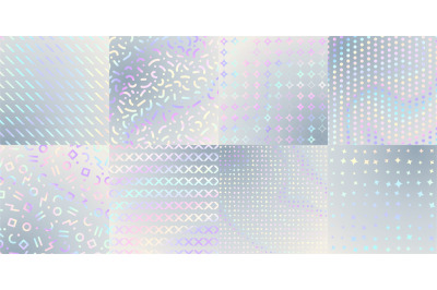 Holographic textures. Iridescent foil&2C; hologram poster cover or print.