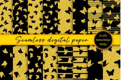 Butterflies. Seamless digital paper.