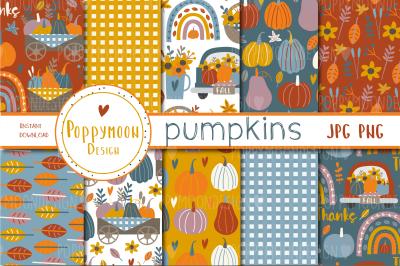 Pumpkins paper set