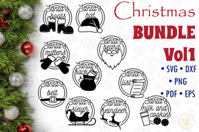 Christmas Bundle Vol1, Christmas quotes SVG cut files