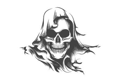 Skull in a Hood Tattoo