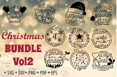 Christmas Bundle Vol2, Christmas quotes SVG cut files