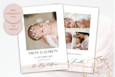 Birth Announcement Card Template #13