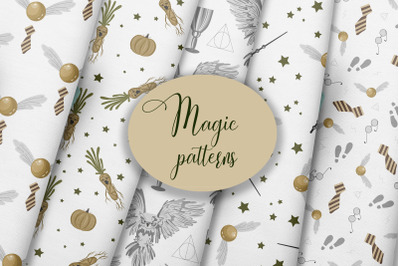 A set of magic patterns for Halloween