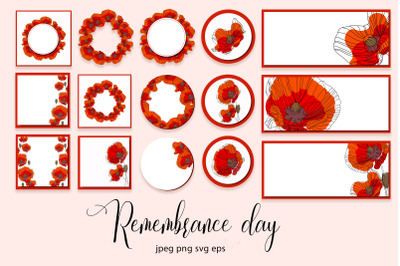 Memorial day collection SVG EPS PNG JPEG
