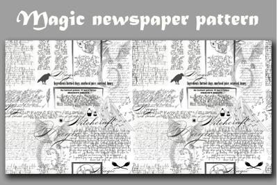 Magic newspaper seamless pattern