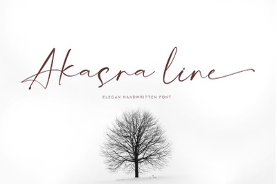 Akasra line font