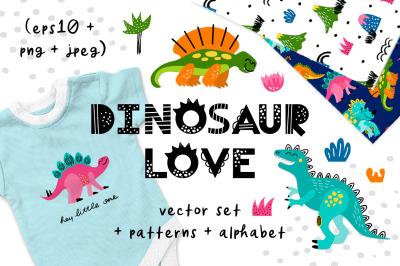 Dinosaurs baby set
