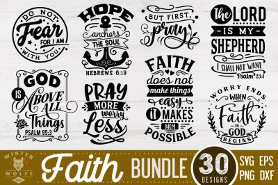 Faith Bundle 30 designs SVG EPS DXF PNG