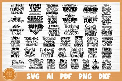 Teacher Quotes SVG Bundle Cut Files