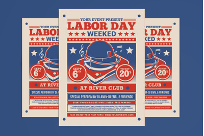 Labor Day Weekend Party Flyer