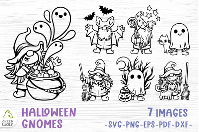 Halloween gnomes svg Halloween svg bundle Witch svg Ghost clipart