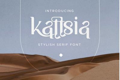 Kattsia - Stylish Serif Font
