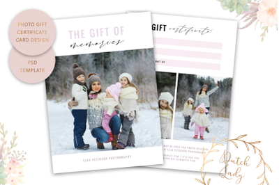 PSD Photo Gift Card Template #59