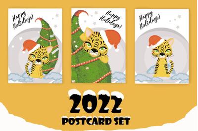 2022 postcard set png. jpeg. eps