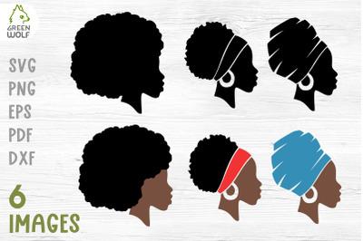 Black woman svg Juneteenth svg Black woman silhouette svg Afro women