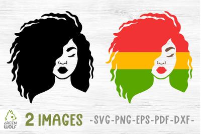 Juneteenth svg Black woman svg African american woman face svg