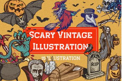 Scary Vintage Illustration