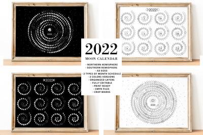Moon Calendar 2022 Spiral