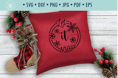Christmas quote SVG cut file Let it snow