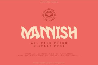 Mannish All Caps Retro Display Font