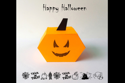 DIY Halloween Pumpkin favor (Printable)
