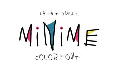 Minime color font