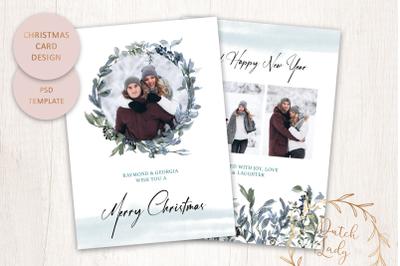 PSD Photo Christmas Card Double #4
