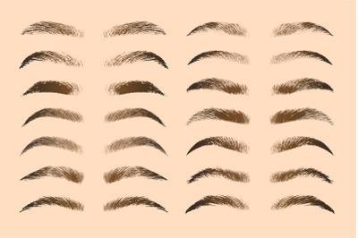 Eyebrows shapes set