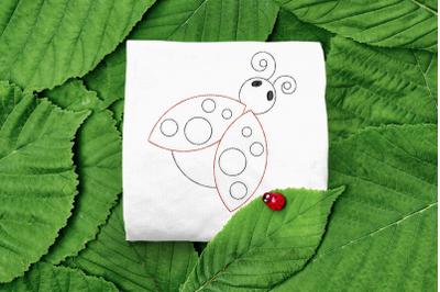 Ladybug Linework | Embroidery