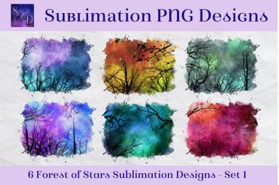 Sublimation PNG Designs - Forest of Stars Images - Set 1
