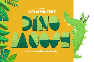 Dino Moose - a Playful Font