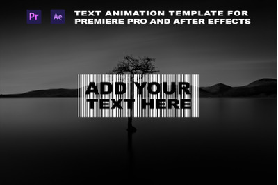 Text animation Adobe Premiere Pro and After Effects