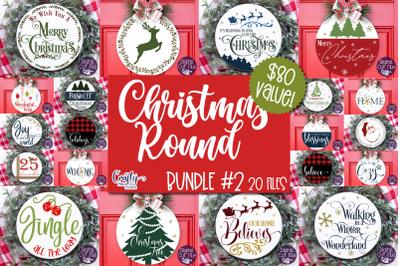 Christmas Svg, Merry Christmas Bundle 2 Round Sign Christmas