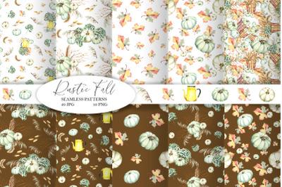 Rustic Fall Seamless Patterns