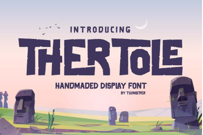 Thertole Unique Display Font