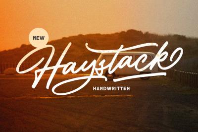 Haystack - Handwritten Script