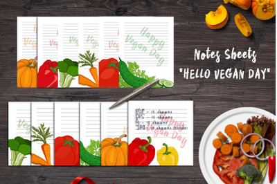 """""""Happy Vegan Day"""" Note Sheets"""