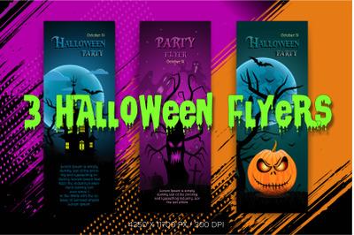 3 Halloween flyers.