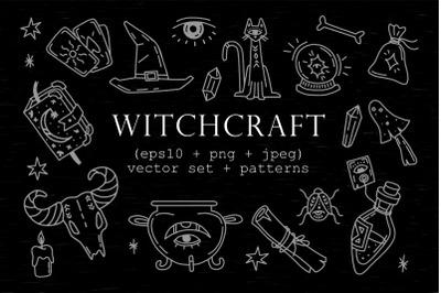 Witchcraft Clipart+Patterns.