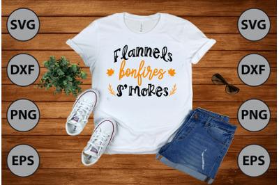 flannels bonfires smores